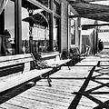 Saloon Shadows Bw by Mel Steinhauer