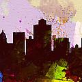 Salt Lake City Skyline by Naxart Studio
