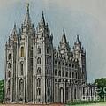 Salt Lake City Temple I by Christine Jepsen