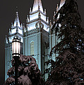 Salt Lake Temple In The Snow by Dustin  LeFevre
