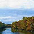 Saluda River In The Fall by Steven Richardson