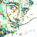 Salvador Dali Watercolor Portrait by Fabrizio Cassetta