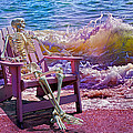 A-loon On The Beach  by Betsy Knapp