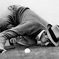 Sam Snead Gets Down by Underwood Archives