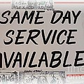 Same Day Service Available by Barbie Corbett-Newmin