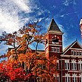 Samford Hall In The Fall by Victoria Lawrence