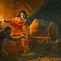 Samson And Dalida by Victoria Kharchenko