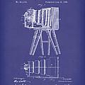 Samuels Photographic Camera 1885 Patent Art Blue by Prior Art Design