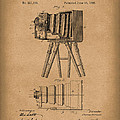 Samuels Photographic Camera 1885 Patent Art Brown by Prior Art Design