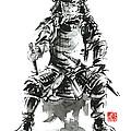 Samurai sword bushido katana armor silver steel plate metal kabuto costume helmet martial arts sumi- by Mariusz Szmerdt