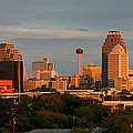 San Antonio - Skyline At Sunset by Randy Smith