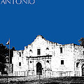 San Antonio The Alamo - Royal Blue by DB Artist