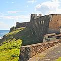San Christobal Castle Old San Juan by Alan Lenk