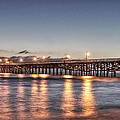 San Clemente Pier At Night by Richard Cheski