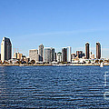 San Diego Ca Harbor Skyline by Tommy Anderson