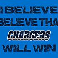 San Diego Chargers I Believe by Joe Hamilton