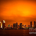 San Diego Cityscape At Night by Paul Velgos