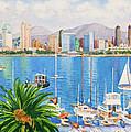 San Diego Skyline by Mary Helmreich