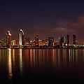 San Diego Night Skyline by Peter Tellone