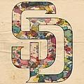 San Diego Padres Logo Vintage by Florian Rodarte