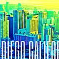 San Diego Postcard by Michelle Dallocchio
