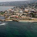 San Diego Shoreline From Above by Phyllis Spoor