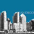 San Diego Skyline 1 - Steel by DB Artist