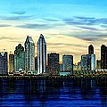 San Diego Skyline And Coronado At Dusk U.s.a by John YATO