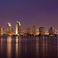 San Diego Skyline At Night by Nick Buchanan