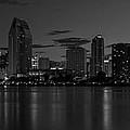 San Diego Skyline Monochrome by Joseph Mcgrady