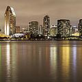 San Diego Skyline Panoramic 2 by Lee Kirchhevel