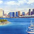 San Diego Skyline With Meridien by Mary Helmreich