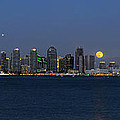 San Diego Super Moon by Mark Whitt