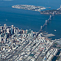San Francisco Bay Bridge Aerial Photograph by John Daly