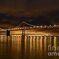 San Francisco - Bay Bridge At Night by Carlos Alkmin