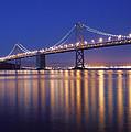 San Francisco Bay Bridge At Twilight by Denise Cottin