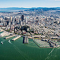San Francisco Bay Piers Aloft by Steve Gadomski