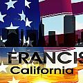 San Francisco Ca Patriotic Large Cityscape by Angelina Tamez
