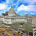 San Francisco City Hall 5d22507 Photoart by Wingsdomain Art and Photography