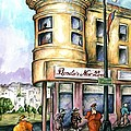 San Francisco North Beach - Watercolor Art by Peter Potter
