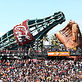 San Francisco Giants Baseball Ballpark Fan Lot Giant Glove And Bottle 5d28241 Square by Wingsdomain Art and Photography