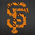 San Francisco Giants Baseball Vintage Logo License Plate Art by Design Turnpike