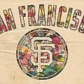 San Francisco Giants Logo Vintage by Florian Rodarte