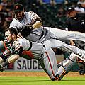 San Francisco Giants V Houston Astros by Scott Halleran