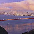 San Francisco Golden Gate Bridge At Dusk by Jit Lim