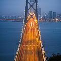 San Francisco - Oakland Bay Bridge by Adam Romanowicz
