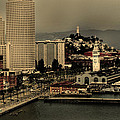 San Francisco Pier From The Bridge by Maggy Marsh