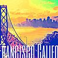San Francisco Postcard by Michelle Dallocchio