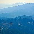 San Francisco Skyline From Mount Tamalpias-california by Ruth Hager