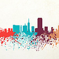 San Francisco Skyline Paint by World Art Prints And Designs